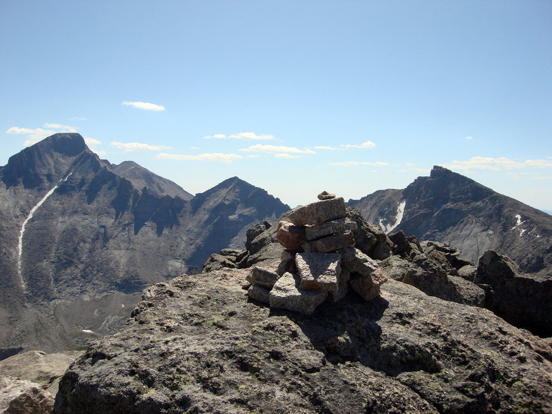 Rock Climbing Photo: This is the summit of McHenry's Peak, looking ahea...