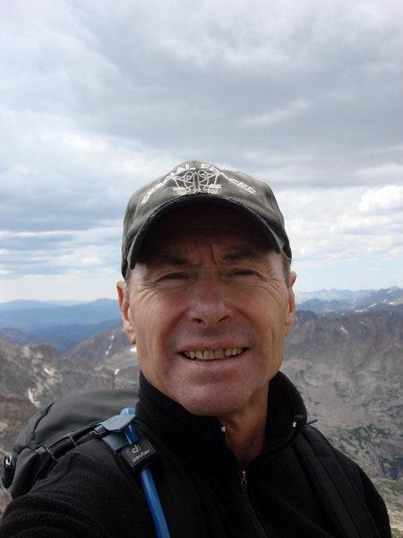 Rock Climbing Photo: Self portrait atop Pagoda Mountain with yet a long...