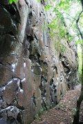 Rock Climbing Photo: Crumble Wall Right