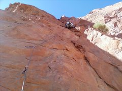 Rock Climbing Photo: Rob on Velvet Jones at the first gear placement