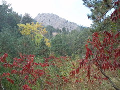Rock Climbing Photo: Fall colors and The First Flatiron