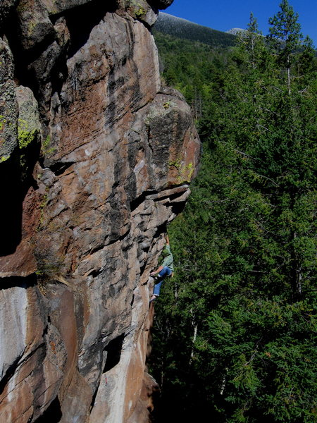 Rock Climbing Photo: Colin Cox stretching it out on the second ascent o...