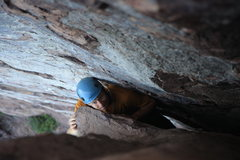 Rock Climbing Photo: me, almost done with the first pitch on danger hig...