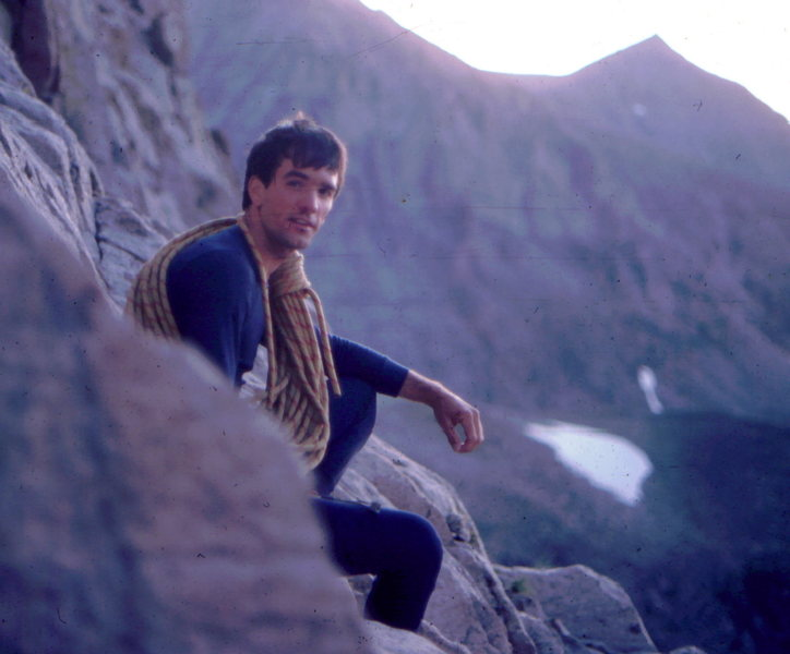 Self portrait after rope soloing Mt. Alice (circa 1984).