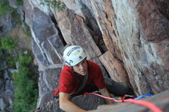 Rock Climbing Photo: andrew at the top of the second pitch photo: Taylo...