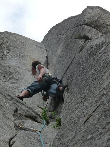 Rock Climbing Photo: Savoring the gorgeous corner...