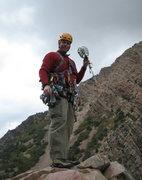 Rock Climbing Photo: The Terminator #6 Camalot at the top.