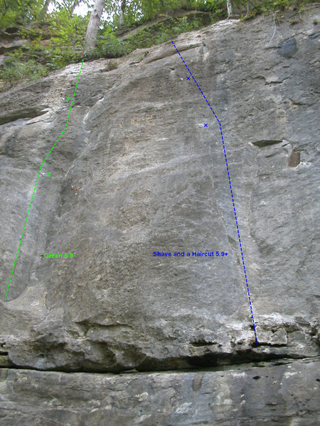 Rock Climbing Photo: Last 2 routes at KBE