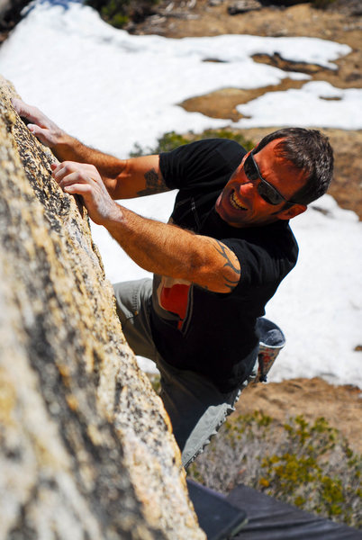 Ross warms up on the Rusty Nail.  Photo: Sulli