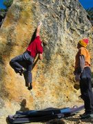 Rock Climbing Photo: Fictor Micro edging on a V-hard line next to the A...