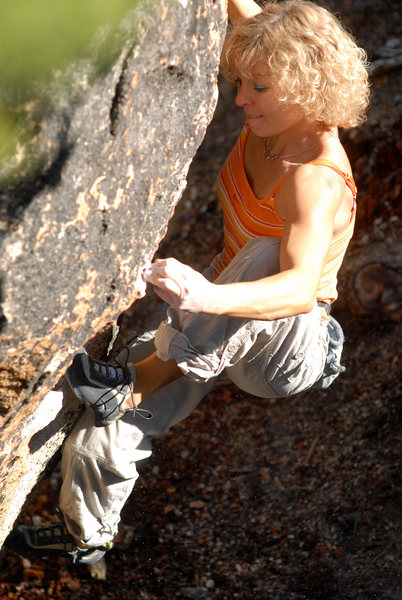 Rock Climbing Photo: Lana Little high steps her way out of the cave.  p...