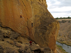 Rock Climbing Photo: Vomit Launch on the left, Chicken McNuggets on the...