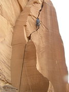 Rock Climbing Photo: Crack climbing.