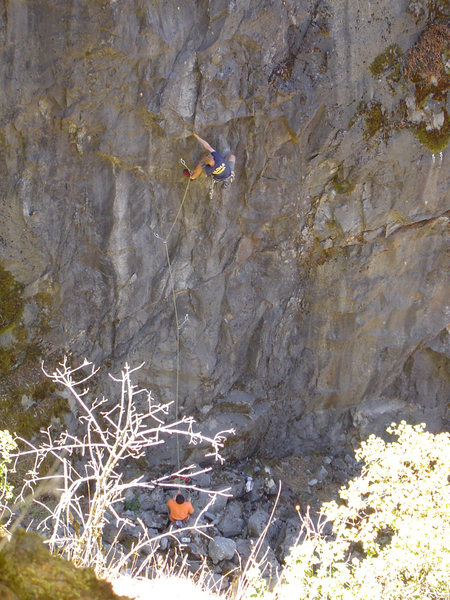 Rock Climbing Photo: Human Oddity 5.12a Auburn.  One of the, if not THE...