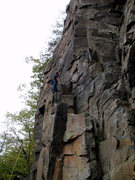 Rock Climbing Photo: At the top of the column, ready to head up column ...