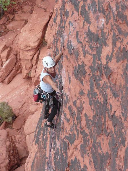 Rock Climbing Photo: leading at magic bus