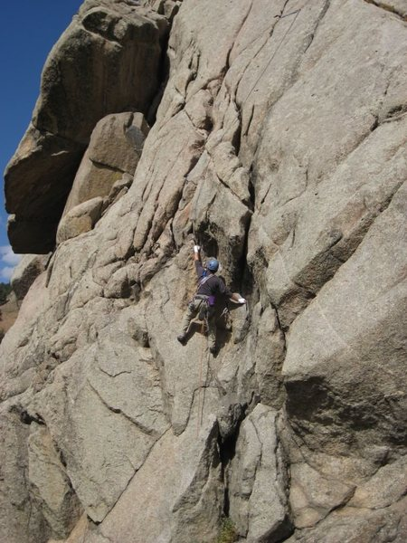 Rock Climbing Photo: Above the V corner start.