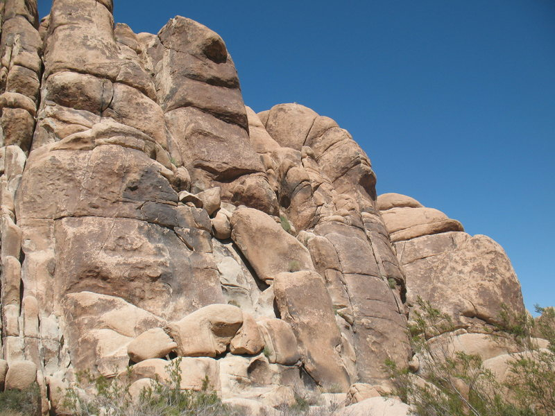 Feudal Wall (Right Side), Joshua Tree NP.