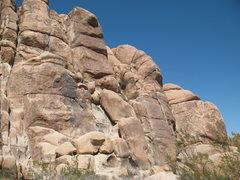 Rock Climbing Photo: Feudal Wall (Right Side), Joshua Tree NP.
