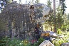 Rock Climbing Photo: The saddle V3