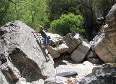 Rock Climbing Photo: Fun slabs in the creekbed.