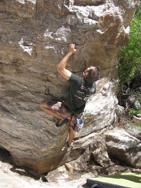 Rock Climbing Photo: Action Arete