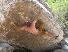 Rock Climbing Photo: Hammer of Hate, a fantastic hard problem with a va...