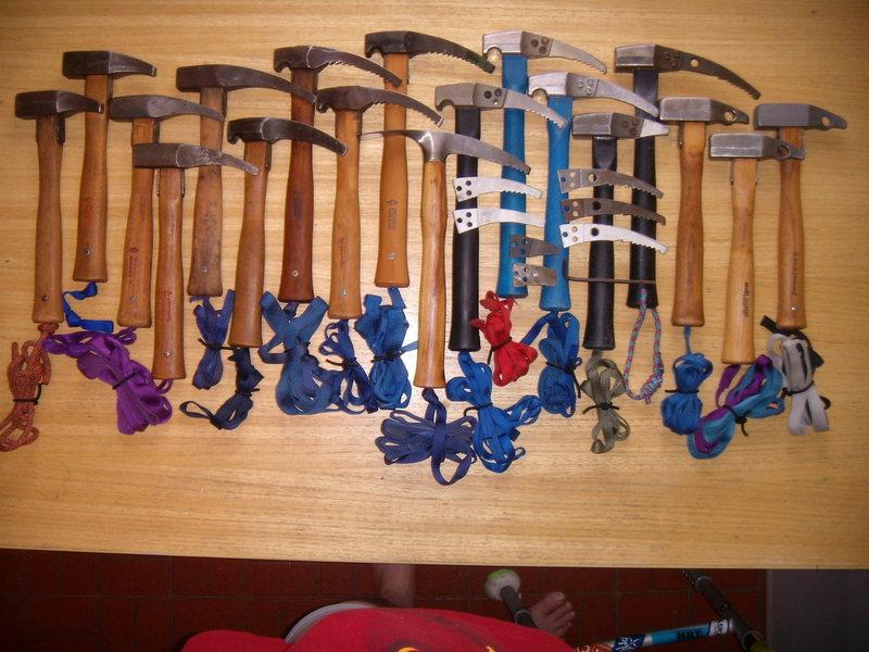 chouinard hammers,<br> climbing gear