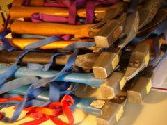 Rock Climbing Photo: pile of Chouinard hammers, climbing gear