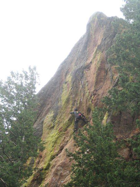 Rock Climbing Photo: Matt Samet on the FA.