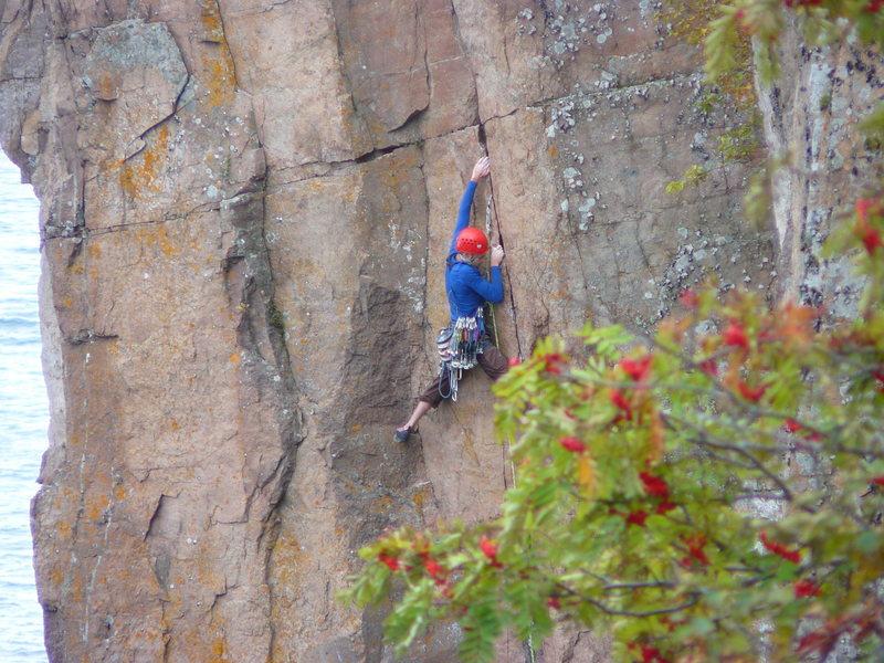 Rock Climbing Photo: Me leading Gun Fight