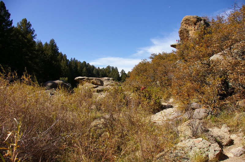 Cliffs at the east entrance of castlewood canyon
