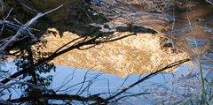 Rock Climbing Photo: An ice window onto the mountains, Lake Sabrina.