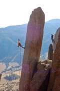Rock Climbing Photo: This is Tabula Rasa, but the climber to the right ...
