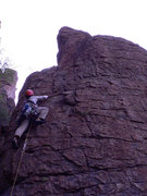 Rock Climbing Photo: David Sampson on Happy Firstday