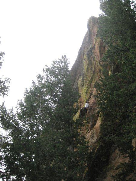 Rock Climbing Photo: Approaching the upper headwall.