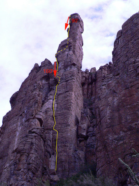 Rock Climbing Photo: Overview of the Shmotem Pole