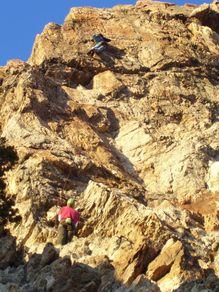 Rock Climbing Photo: Tristan using good body english