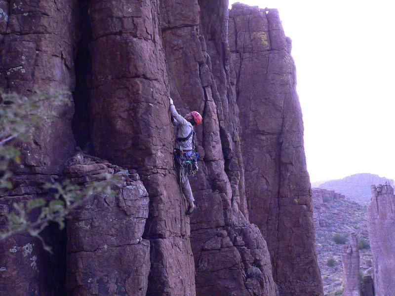 Rock Climbing Photo: David Sampson leading Faith, Hope & Jeep.