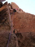 Rock Climbing Photo: Geir on the FA of Frosted Snakes