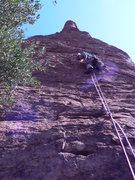 Rock Climbing Photo: Geir Hundal on the FA of Advanced Geir