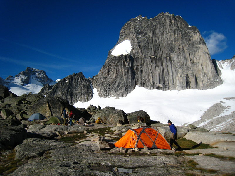 Applebee Dome campsite under the East face of Snowpatch Spire