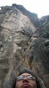 Rock Climbing Photo: me and High Teck, a route whit only 7 red points!!...