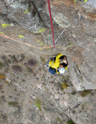 Rock Climbing Photo: In the crux of P4.