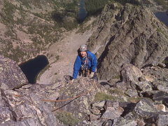 Rock Climbing Photo: On the top finally, looks like we are going to liv...