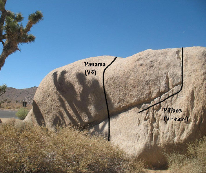 Rock Climbing Photo: Panama (V3), Joshua Tree NP