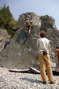 Rock Climbing Photo: Warm up boulder Lost Rocks