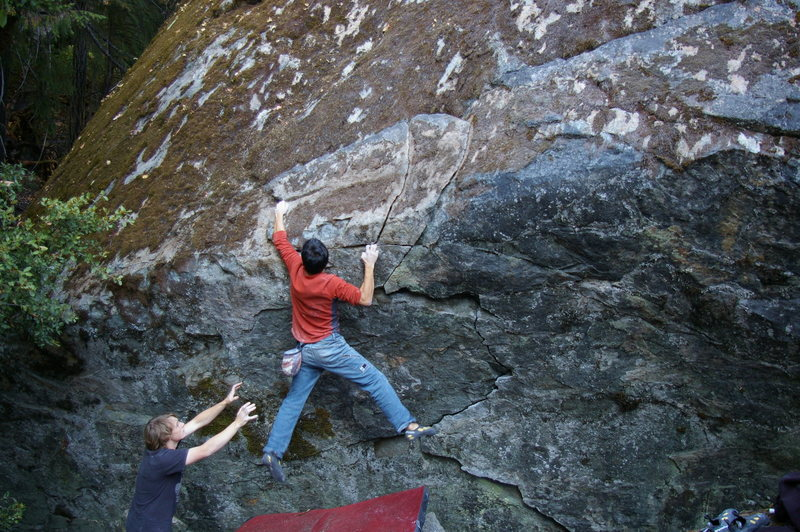 Rock Climbing Photo: V4 on the wave wall