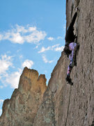 Rock Climbing Photo: Just below the crux of Ring of Fire