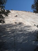 Rock Climbing Photo: Joel Longo leading the first pitch of Thin Slice. ...